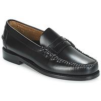 鞋子 男士 皮便鞋 Sebago 仕品高 CLASSIC PENNY BRUSHED 黑色