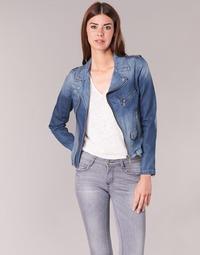 衣服 女士 牛仔外套 Schott JANIS 蓝色