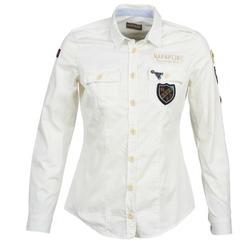 衣服 女士 衬衣/长袖衬衫 Napapijri GLENDA 白色