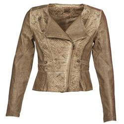 衣服 女士 皮夹克/ 人造皮革夹克 Cream LIL 灰褐色