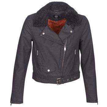衣服 女士 皮夹克/ 人造皮革夹克 Only ONLCAROL 黑色