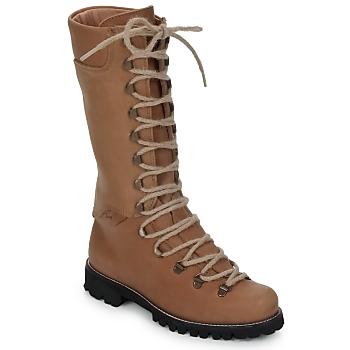 鞋子 女士 短筒靴 Swamp STIVALE LACCI 棕色 / 米色