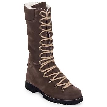 鞋子 女士 短筒靴 Swamp STIVALE LACCI MONTONE 棕色 / Fonce