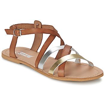 鞋子 女士 涼鞋 So Size AVELA 淺棕色