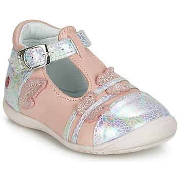 鞋子 女孩 平底鞋 GBB MERTONE 玫瑰色 / 银灰色