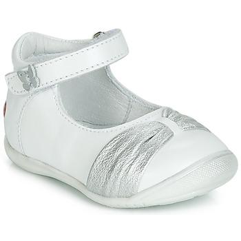 鞋子 女孩 平底鞋 GBB MALLA 白色 / 银灰色