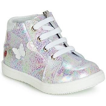 鞋子 女孩 高幫鞋 GBB MEFITA 白色 / 玫瑰色
