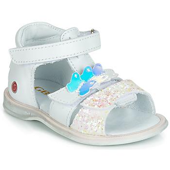 鞋子 女孩 凉鞋 GBB MESTI 白色 / 银灰色