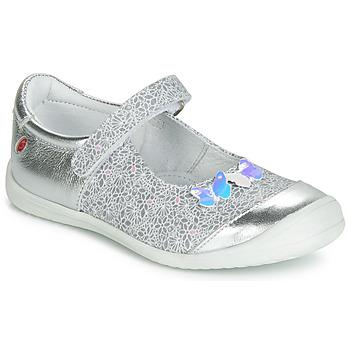 鞋子 女孩 平底鞋 GBB SACHIKO 銀灰色