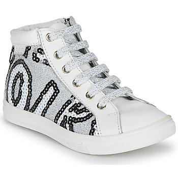 鞋子 女孩 高幫鞋 GBB MARTA 白色 / 銀灰色