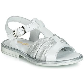 鞋子 女孩 凉鞋 GBB MESSENA 白色 / 银灰色
