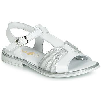 鞋子 女孩 涼鞋 GBB MESSENA 白色 / 銀灰色