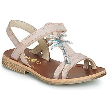 鞋子 女孩 涼鞋 GBB SAPELA 玫瑰色 / 銀灰色