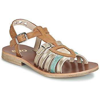 鞋子 女孩 凉鞋 GBB FANNI 棕色 / 金色