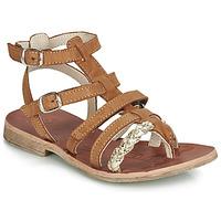 鞋子 女孩 涼鞋 GBB NOVARA 棕色 / 金色
