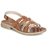 鞋子 女孩 凉鞋 Catimini NOBO 棕色 / 金色