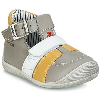鞋子 男孩 凉鞋 Catimini TIMOR 灰色 / 芥末黄