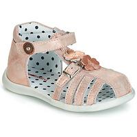 鞋子 女孩 涼鞋 Catimini VANUA 玫瑰色 / 金色
