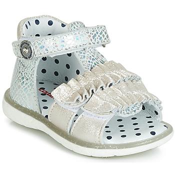 鞋子 女孩 凉鞋 Catimini BIRA 银灰色