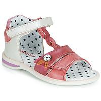 鞋子 女孩 涼鞋 Catimini GOROKA 白色 / 紅色