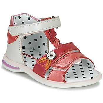 鞋子 女孩 凉鞋 Catimini GOROKA 白色 / 玫瑰色