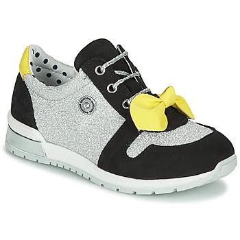 鞋子 女孩 球鞋基本款 Catimini BANJO 银灰色 / 黑色