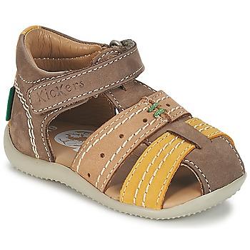 鞋子 男孩 凉鞋 Kickers BIGBAZAR 棕色 / 米色 / 黄色