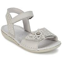 鞋子 女孩 凉鞋 Kickers EVANA 白色 / Cassé