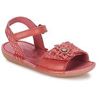 鞋子 女孩 凉鞋 Kickers EVANA 红色 / 珊瑚色