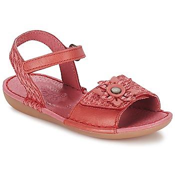 鞋子 女孩 凉鞋 Kickers EVANA 玫瑰色 / 珊瑚色