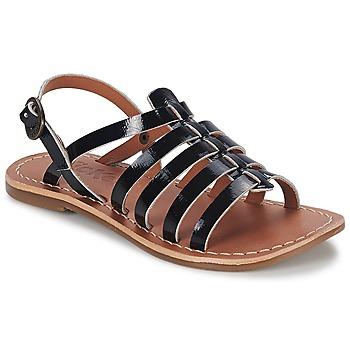 鞋子 女孩 凉鞋 Kickers DIXMILLION 黑色 / 漆皮