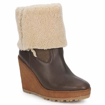 鞋子 女士 短靴 Pare Gabia NELICE 巧克力色