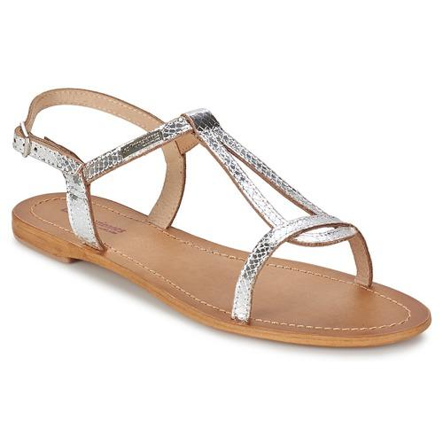 鞋子 女士 凉鞋 Les Tropéziennes par M Belarbi HAMAT 银色 / 蛇纹