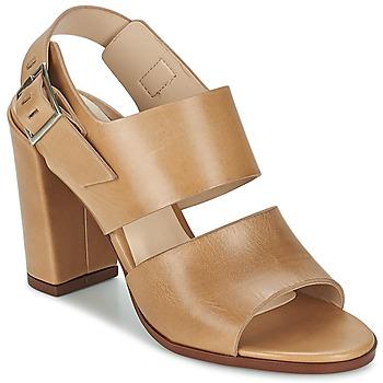 鞋子 女士 凉鞋 Dune CUPPED BLOCK HEEL SANDAL 米色