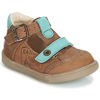鞋子 男孩 凉鞋 GBB AREZO 棕色 / 蓝色