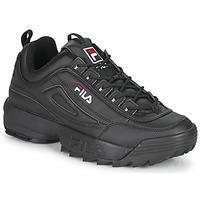 鞋子 男士 球鞋基本款 Fila DISRUPTOR LOW 黑色