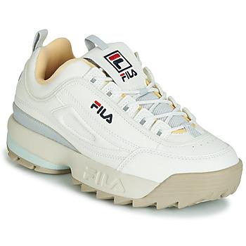 鞋子 女士 球鞋基本款 Fila DISRUPTOR CB LOW WMN 白色 / 灰色
