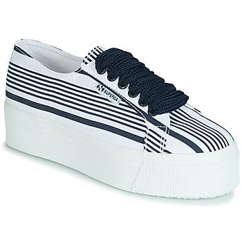 鞋子 女士 球鞋基本款 Superga 2790 COT MULTI STRIPE W 白色