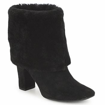 鞋子 女士 短靴 Rockport 乐步 HELENA CUFFED BOOTIE 黑色