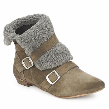 鞋子 女士 短筒靴 Bronx CREPOU 棕色 / 灰色
