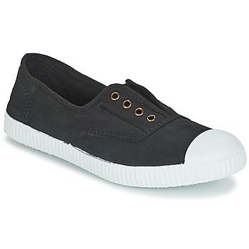 鞋子 球鞋基本款 Victoria 维多利亚 INGLESA ELASTICO TINTADA 黑色