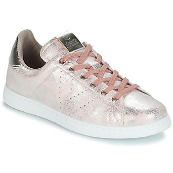 鞋子 女士 球鞋基本款 Victoria 维多利亚 TENIS METALIZADO 玫瑰色