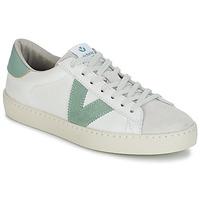 鞋子 女士 球鞋基本款 Victoria 维多利亚 BERLIN PIEL CONTRASTE 白色 / 绿色