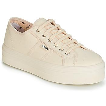 鞋子 女士 球鞋基本款 Victoria 维多利亚 BARCELONA LONA MONOCROMO 米色