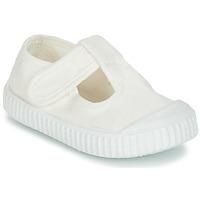 鞋子 儿童 平底鞋 Victoria 维多利亚 SANDALIA LONA TINTADA 白色