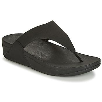 鞋子 女士 人字拖 FitFlop LULU SHIMMERLUX 黑色