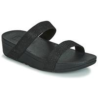 鞋子 女士 休閑涼拖/沙灘鞋 FitFlop LOTTIE GLITZY SLIDE 黑色