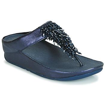鞋子 女士 人字拖 FitFlop RUMBA TOE THONG SANDALS 藍色