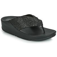 鞋子 女士 人字拖 FitFlop TWISS CRYSTAL 黑色