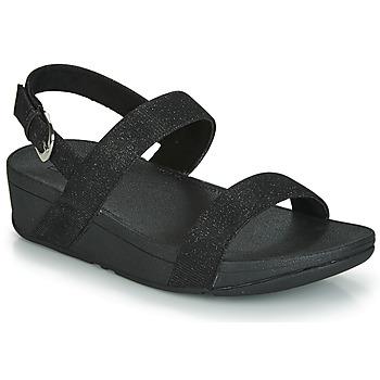 鞋子 女士 休閑涼拖/沙灘鞋 FitFlop LOTTIE GLITZY BACKSTRAP SANDAL 黑色